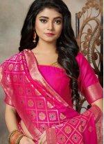 Pink Silk Party Trendy Saree