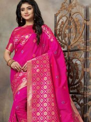 Pink Silk Party Trendy Saree