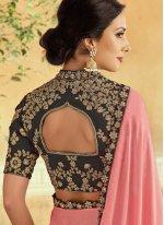 Pink Tafeta Silk Wedding Lehenga Choli