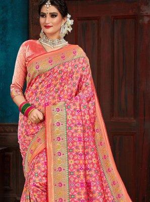 Pink Traditional Designer Saree