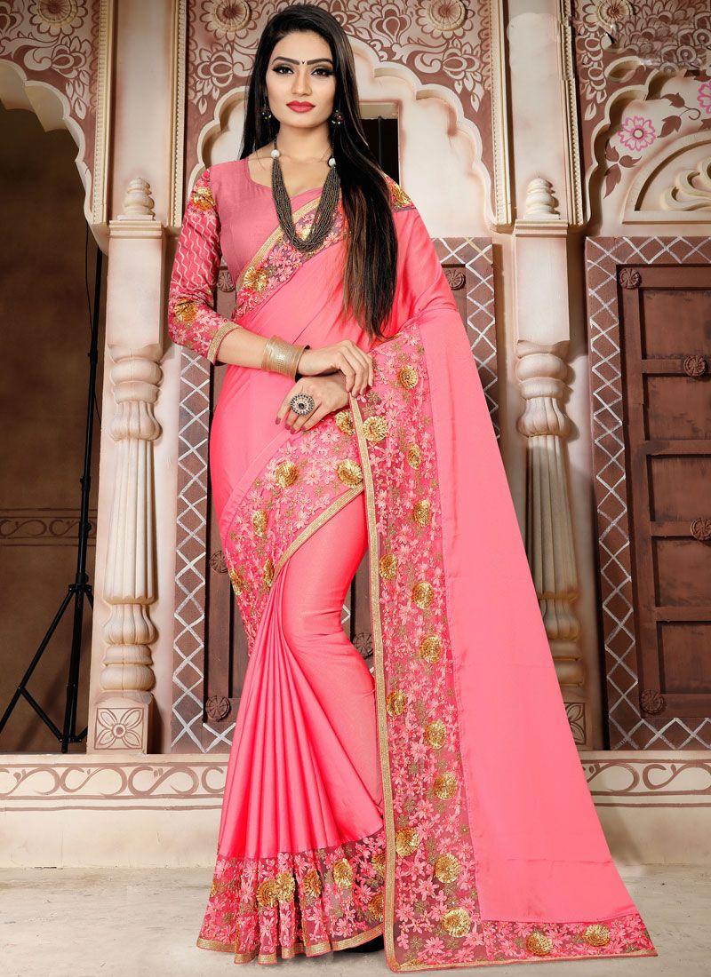 Pink Traditional Saree