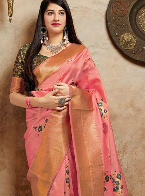 Pink Traditional Saree