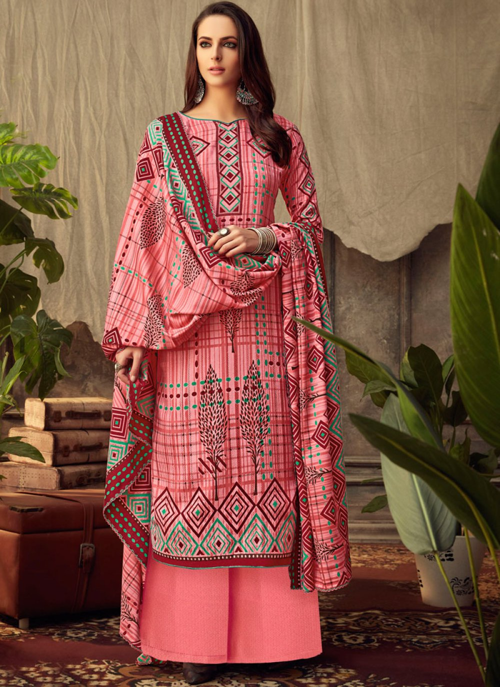 Pink Trendy Palazzo Salwar Suit