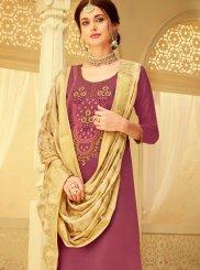 Pink Viscose Sangeet Designer Salwar Kameez