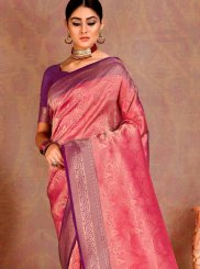 Pink Weaving Festival Silk Saree