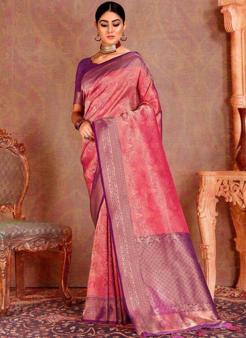 Pink Weaving Festival Silk Saree