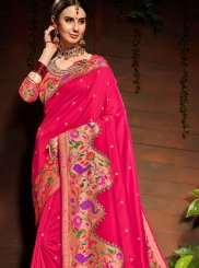 Pink Wedding Art Silk Classic Saree