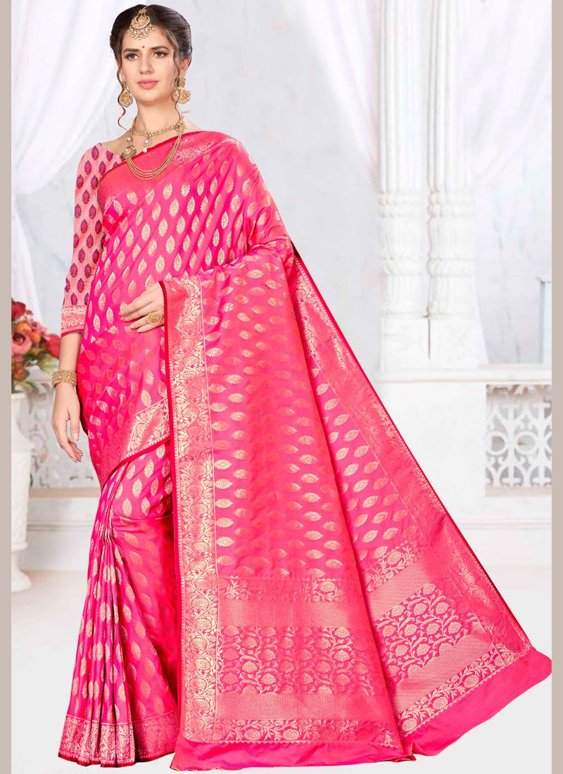 c4f6d3ae70 Shop Pink Wedding Banarasi Silk Designer Saree Online : 116062 -
