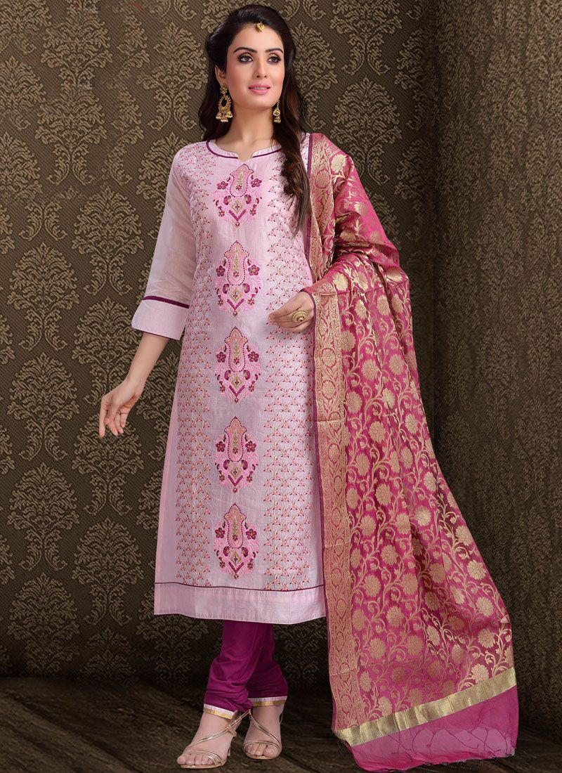 Pink Wedding Churidar Designer Suit