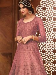 Pink Wedding Floor Length Anarkali Suit