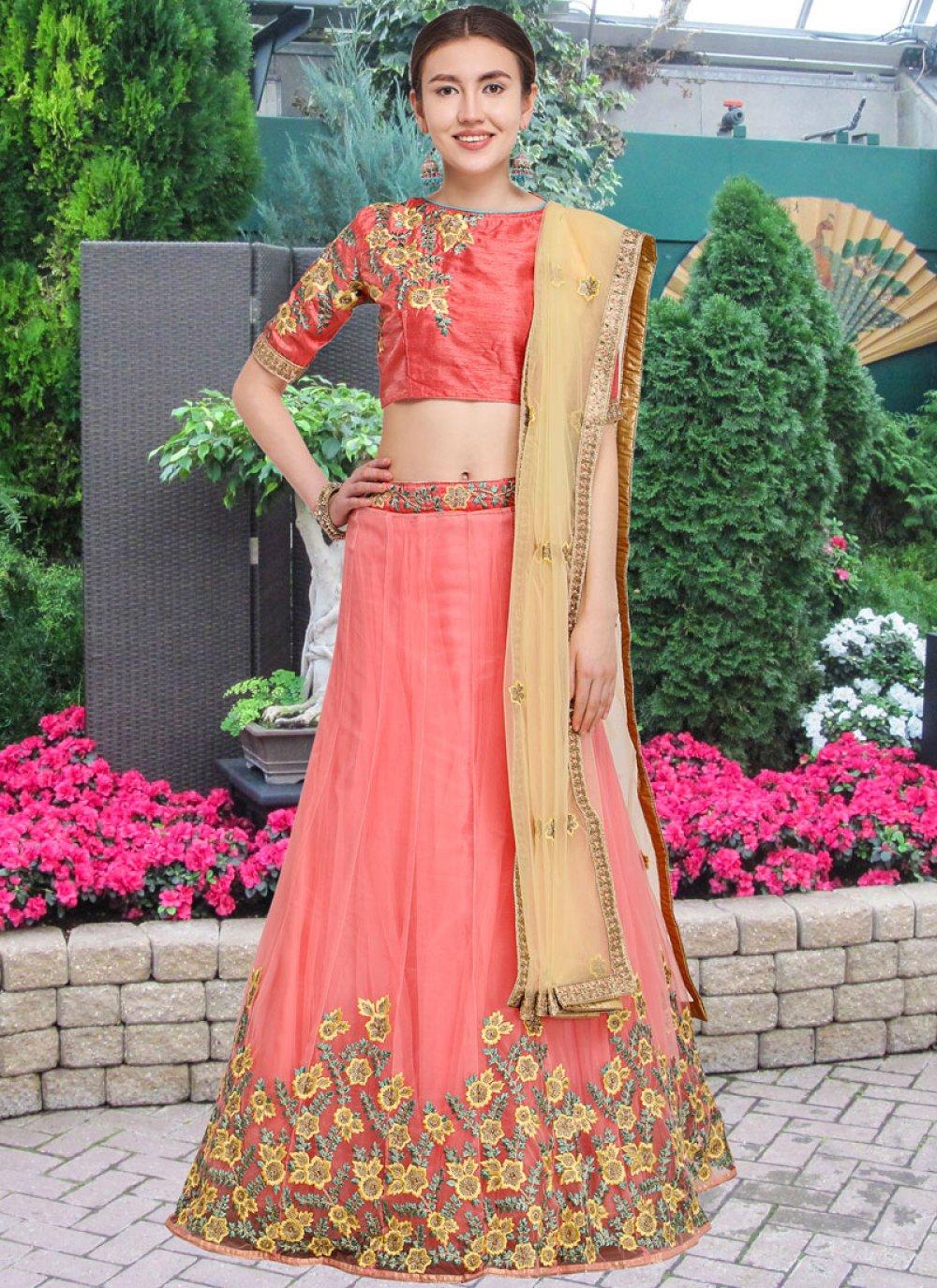 Pink Wedding Lehenga Choli