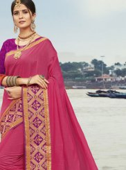 Pink Woven Festival Traditional Designer Saree