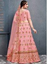 Pink Zari Designer Lehenga Choli