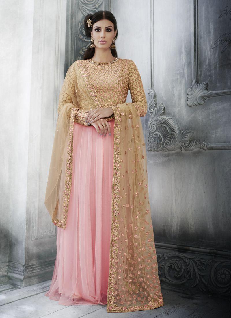 Pink Zari Festival Designer Salwar Kameez