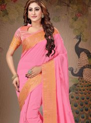 Pink Zari Trendy Saree