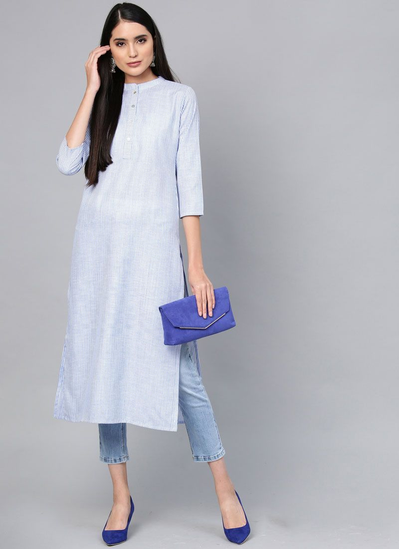 Plain Cotton Casual Kurti