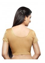 Plain Cotton Designer Blouse in Gold