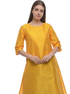 Plain Dupion Silk Designer Kurti