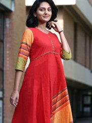 Plain Khadi Party Wear Kurti
