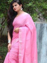 Plain Linen Classic Designer Saree