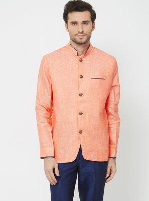 Plain Linen Coats & Blazers in Orange