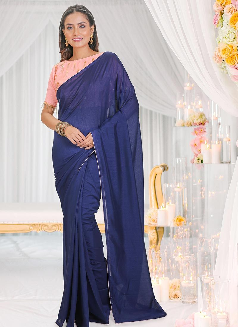 Plain Sangeet Silk Saree