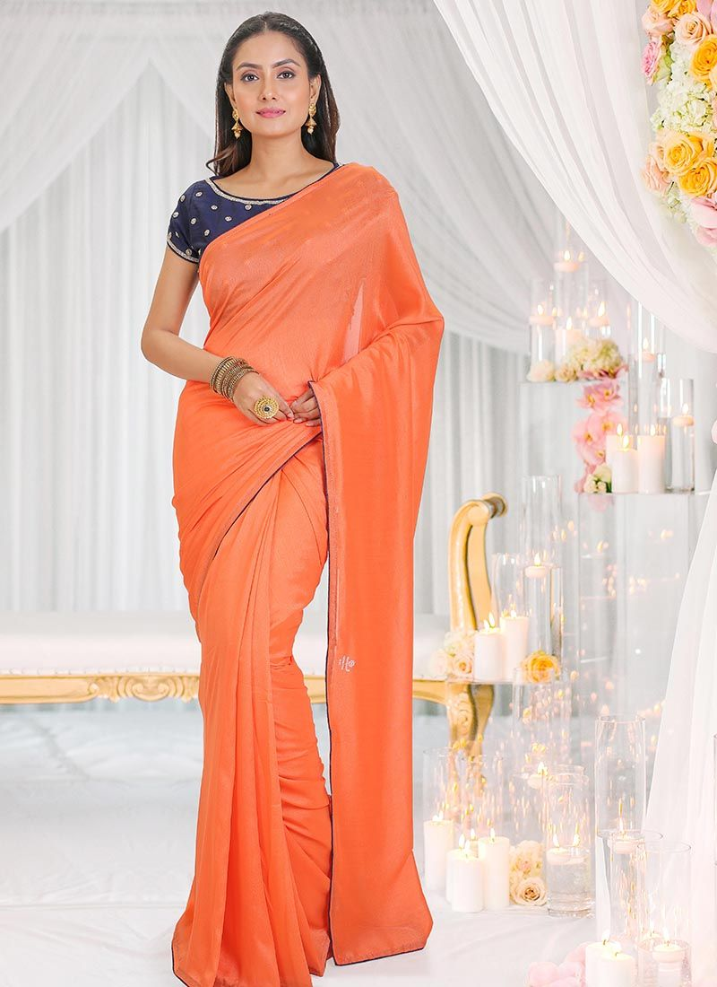 Plain Silk Silk Saree