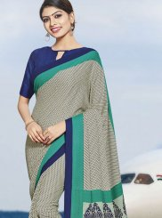 Polly Cotton Multi Colour Printed Casual Saree