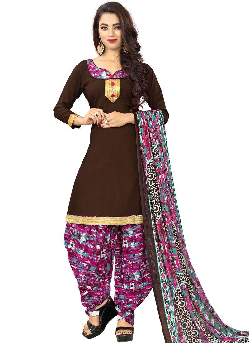 Poly Cotton Casual Punjabi Suit