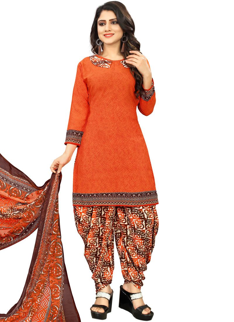 Poly Cotton Casual Punjabi Suit
