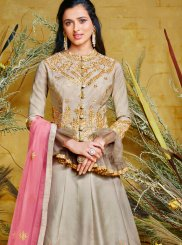 Poly Silk Ceremonial Floor Length Anarkali Suit