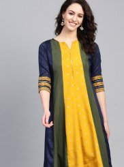Poly Silk Fancy Party Wear Kurti