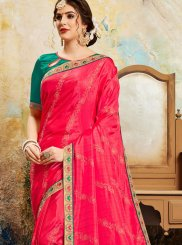 Poly Silk Saree in Red