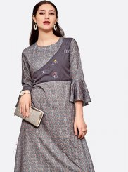 Polyester Fancy Party Wear Kurti
