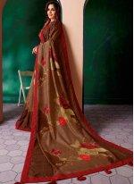 Print Art Silk Designer Traditional Saree