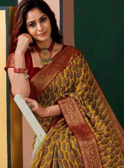 Print Art Silk Designer Traditional Saree