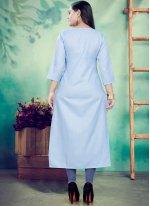 Print Blue Party Wear Kurti