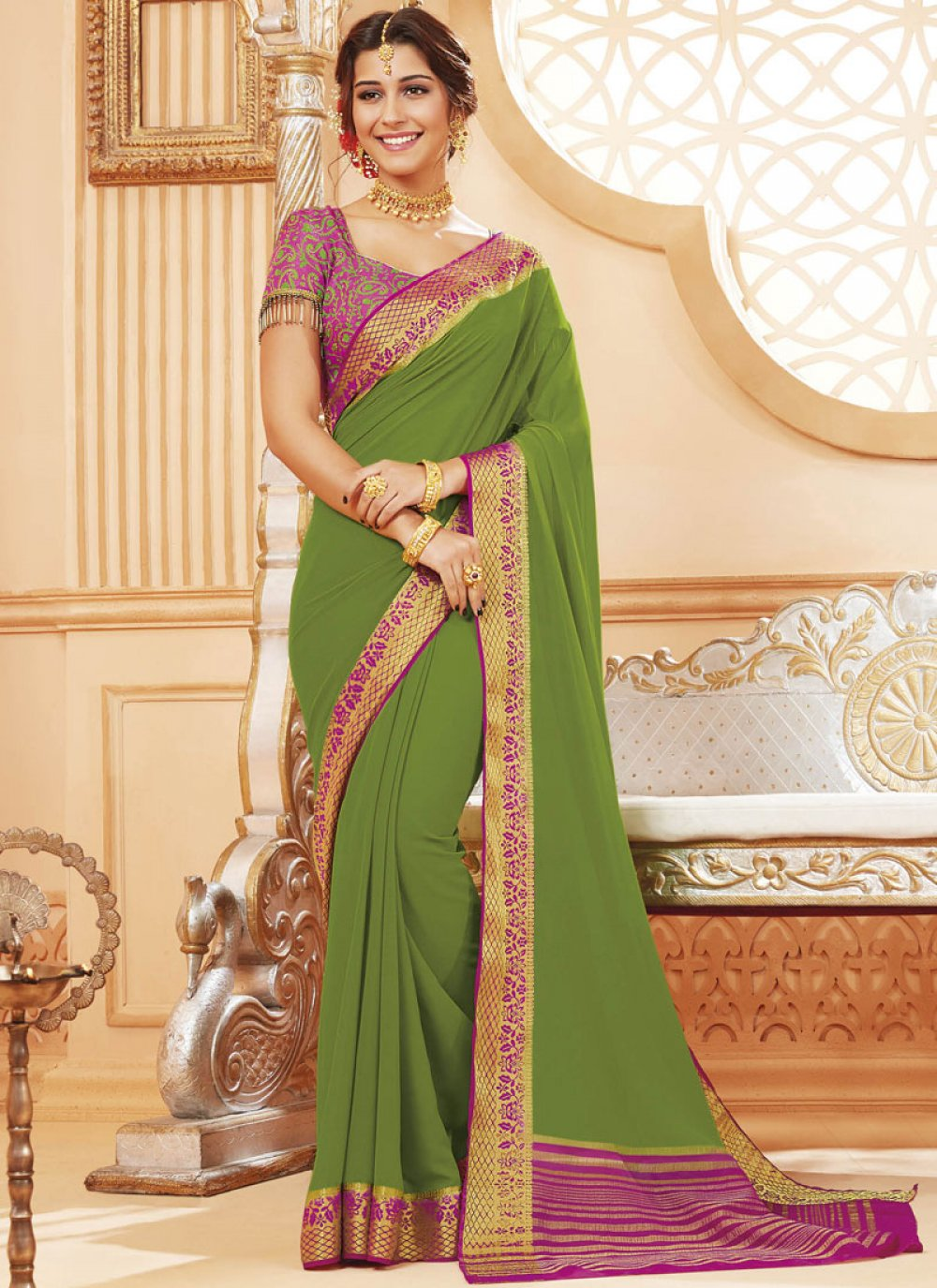 Print Ceremonial Designer Traditional Saree