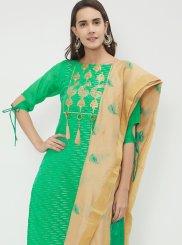 Print Chanderi Designer Suit