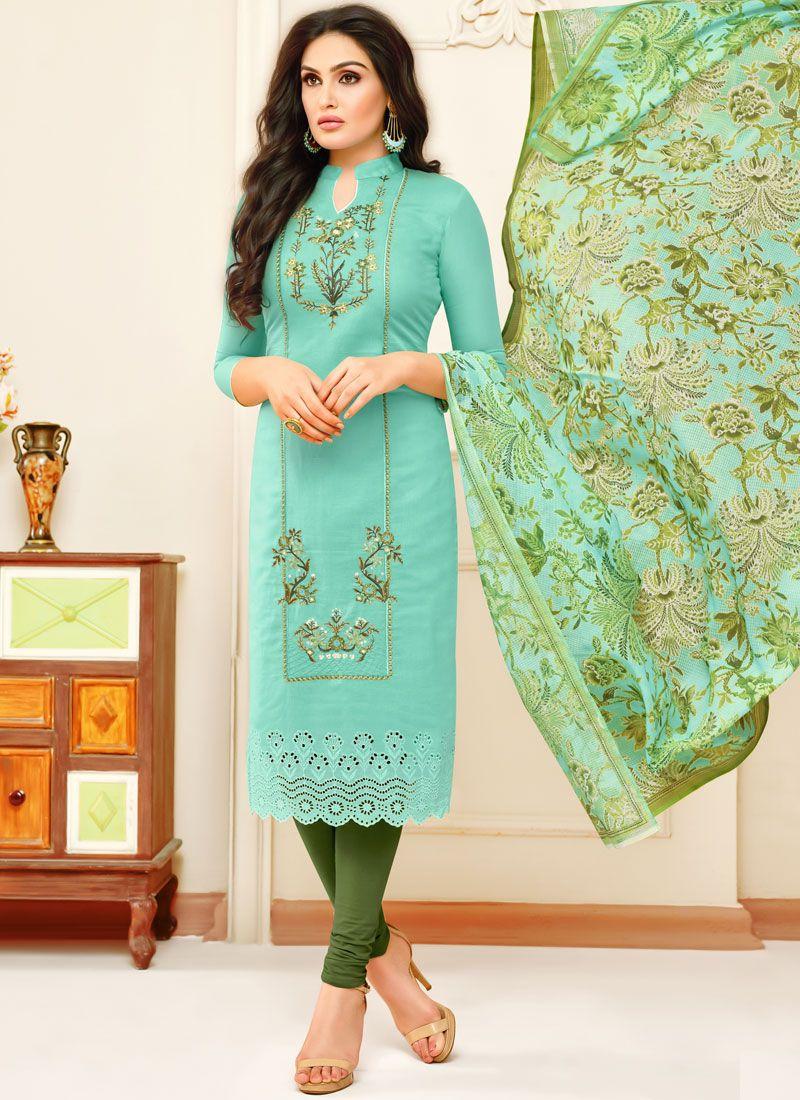 Print Churidar Designer Suit