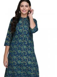 Print Fancy Fabric Casual Kurti