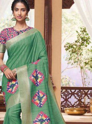 Print Fancy Fabric Classic Saree