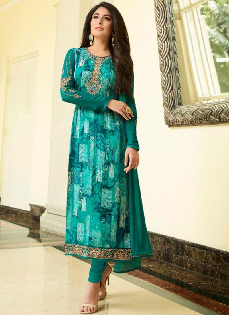 Print Kritika Kamra Brasso Designer Straight Suit