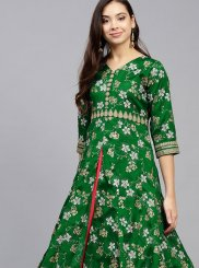 Print Poly Silk Party Wear Kurti