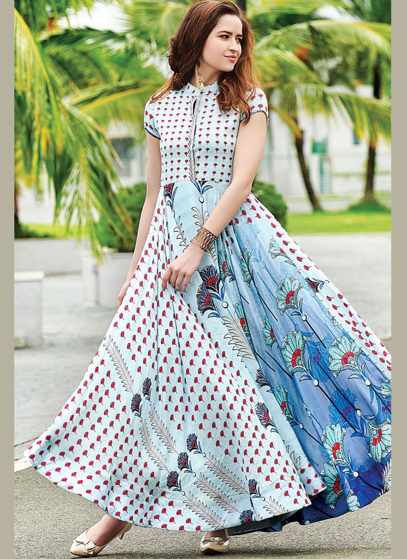 Print Readymade Gown