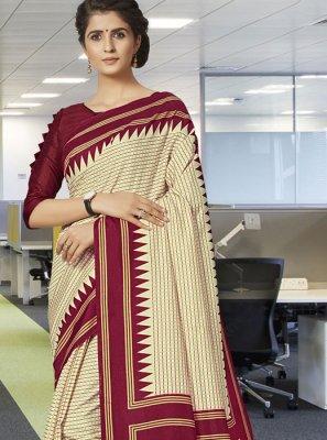 Print Traditional Designer Saree