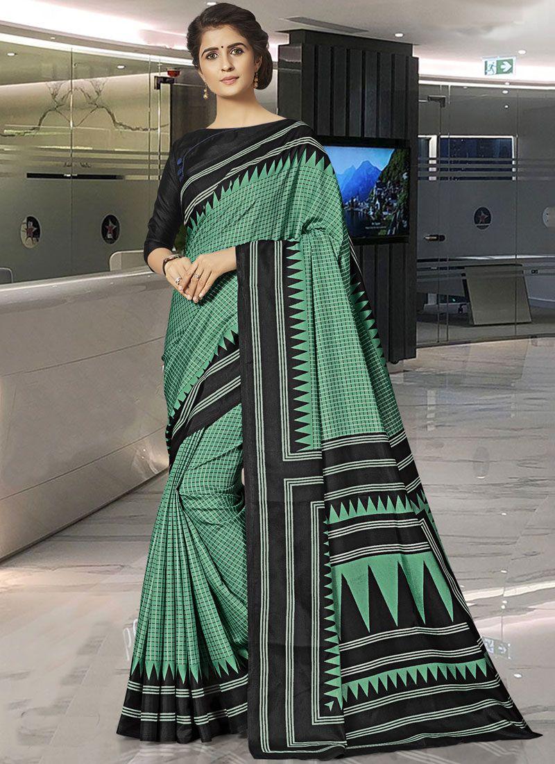Print Traditional Saree