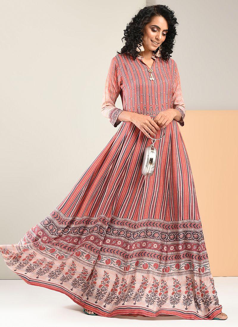 Print Trendy Gown