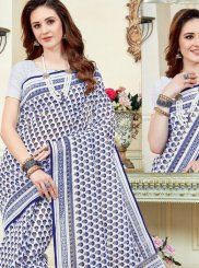 Print Work Cotton   Casual Saree