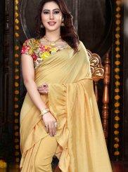 Print Yellow Classic Saree